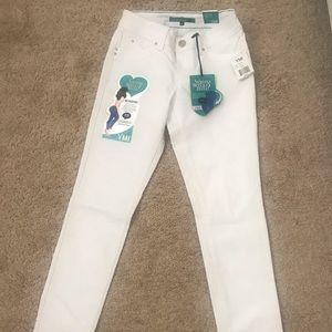 YMI white skinny jean